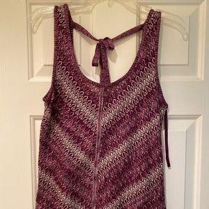 White House Black Market Size XS Plum Knit Shirt